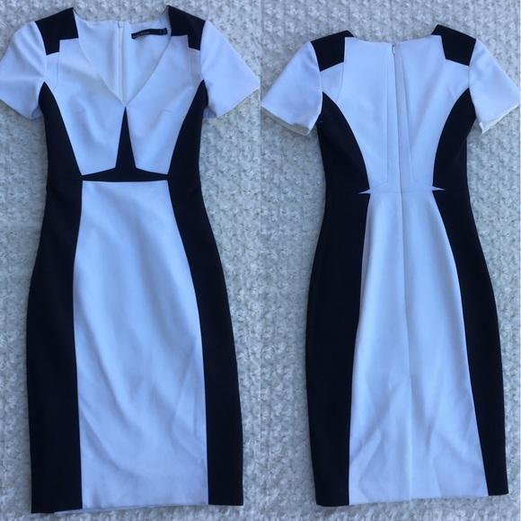 0ded8c57125220 Karen Millen Dresses | Black And White Knee Length Dress | Poshmark